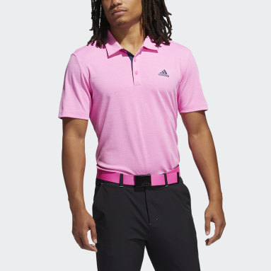 Men Golf Pink Advantage Novelty Heathered Polo Shirt
