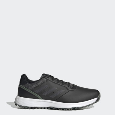 Golf Black S2G Spikeless Leather Golf Shoes