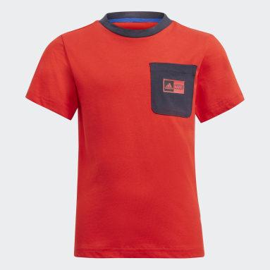 Conjunto camiseta y pantalón corto Superhero Adventures Summer Rojo Niño Gimnasio Y Entrenamiento