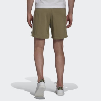 Men Sportswear Green Essentials French Terry 3-Stripes Shorts