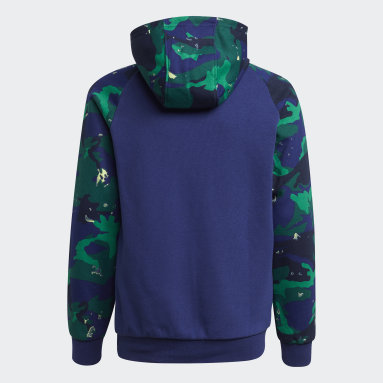 Sweat-shirt à capuche Camo-Print Bleu Garçons Originals