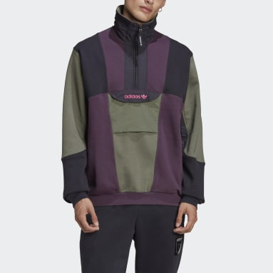 Herr Originals Röd Adventure Field Half-Zip Sweatshirt
