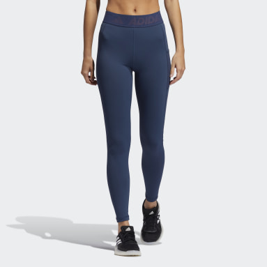 Women Training Blue Techfit Badge of Sport Tights