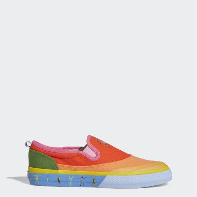 Men Originals Red Nizza Slip-On Pride Shoes