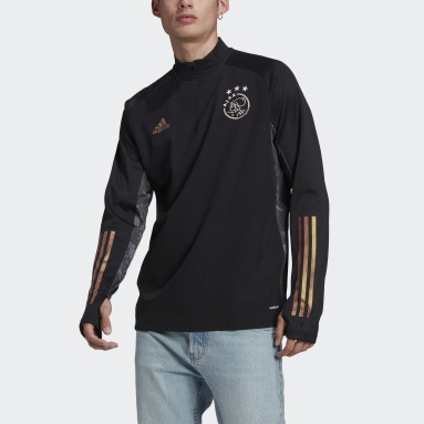 Men Football Black Ajax Amsterdam Ultimate Warm Top