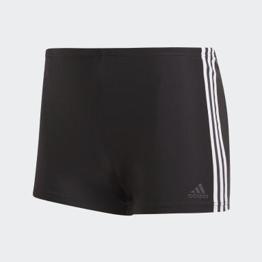 Muži Plávanie čierna Plavecké boxerky 3-Stripes
