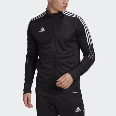 Muži Fotbal černá Sportovní bunda Tiro 21