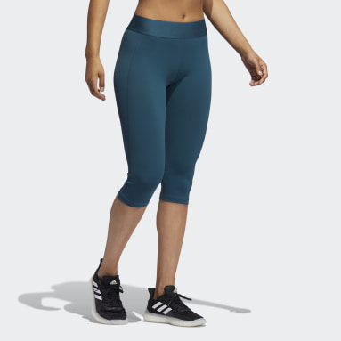 Dames Fitness En Training Turquoise Techfit Capri Legging