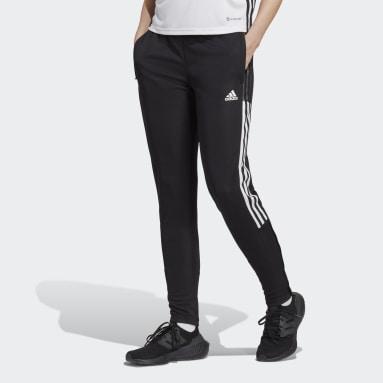 Ženy Fotbal černá Sportovní kalhoty Tiro 21