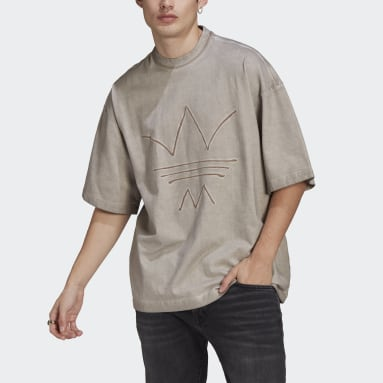 T-shirt R.Y.V. Oversize Abstract Trefoil Marrone Uomo Originals