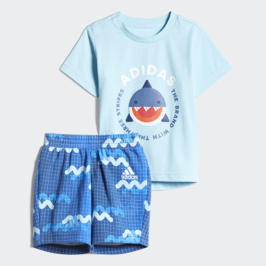 Infants Training Blue Tee Shorts Set