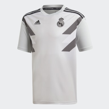 Jersey Real Madrid Home Pre-Match Gris Niño Fútbol