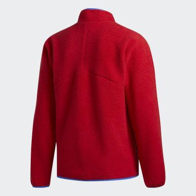 Campera Sherpa Rojo Hombre Originals