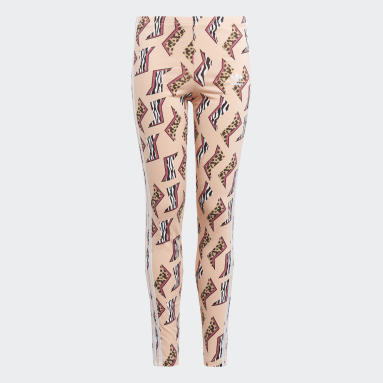 Girls Originals Pink Allover Print Leggings