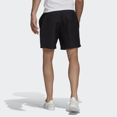 Men Sport Inspired Black Essentials Gradient Logo Shorts
