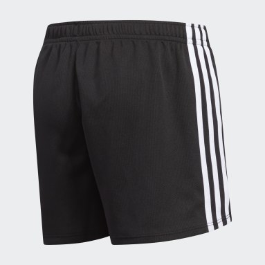 Youth Yoga Black 3-Stripes Mesh Shorts