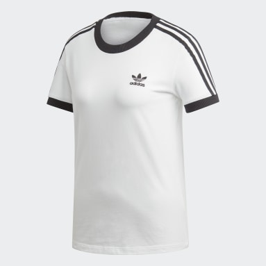 Dames Originals Wit 3-Stripes T-shirt