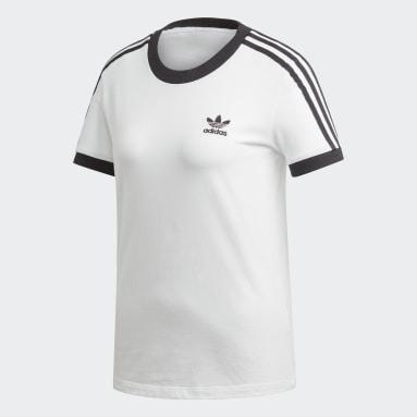Camiseta 3-Stripes Branco Mulher Originals