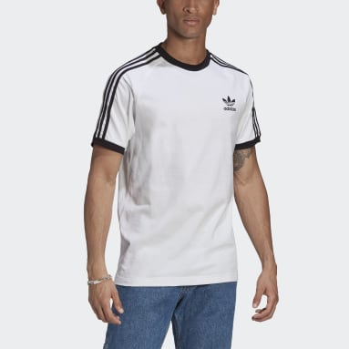 Originals Hvid Adicolor Classics 3-Stripes T-shirt