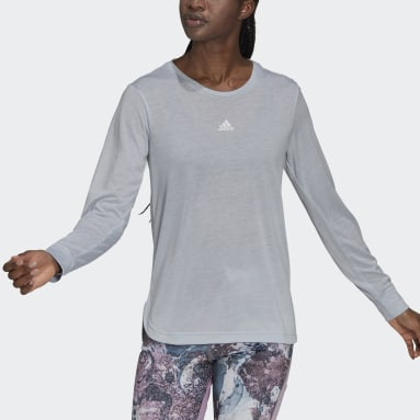 Women Gym & Training Blue U4U AEROREADY Long-Sleeve Top