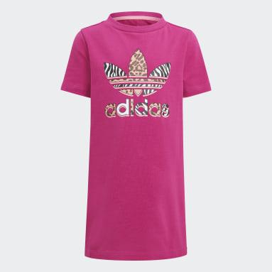 Děti Originals růžová Souprava Graphic Print Tee Dress