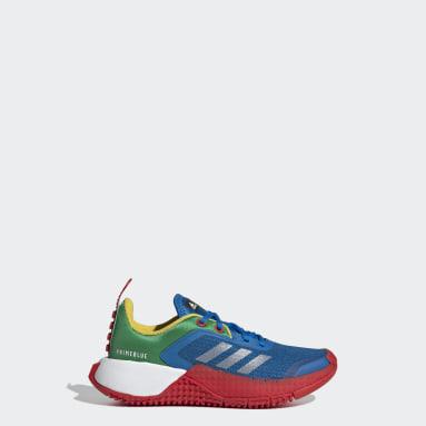 Children Running Blue adidas Sport x Classic LEGO® Shoes
