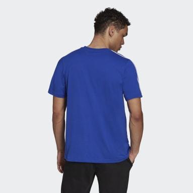 Herr Sportswear Blå Essentials 3-Stripes Tee