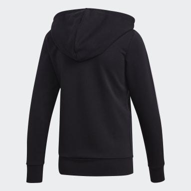 Chaqueta con capucha Essentials 3 bandas Negro Mujer Sportswear