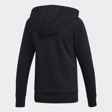 Women Sportswear Black Essentials 3-Stripes Hoodie
