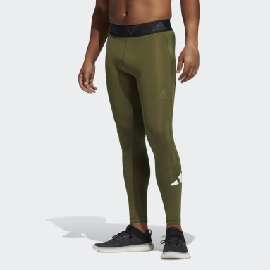 Tight lunghi Techfit Verde Uomo Running