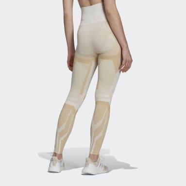 ผู้หญิง เทรนนิง สีขาว กางเกงรัดรูป Formotion Sculpt Two-Tone