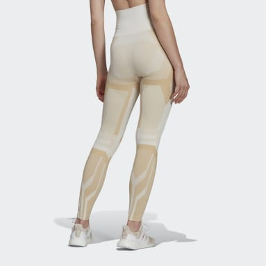 Women Gym & Training White Formotion Sculpt Two-Tone Tights