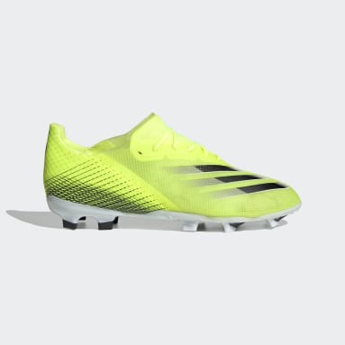 Boys Football Yellow X Ghosted.1 Firm Ground Boots