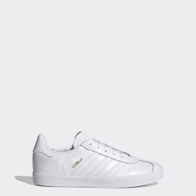 Kids Originals White Gazelle Shoes