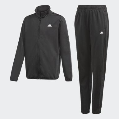 Youth Training Black adidas Essentials Track Suit