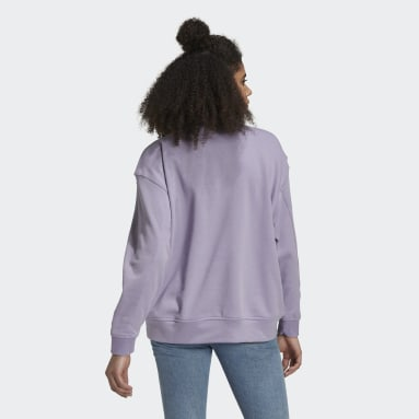 Women Originals Purple LOUNGEWEAR Adicolor Essentials Sweatshirt