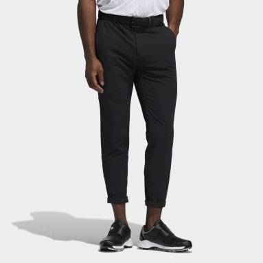 Men Golf Black Pin Roll Pants