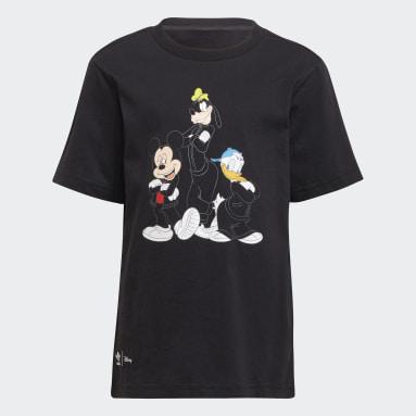 เด็ก Originals สีดำ ชุดเสื้อยืดและกางเกงขาสั้น Disney Mickey and Friends
