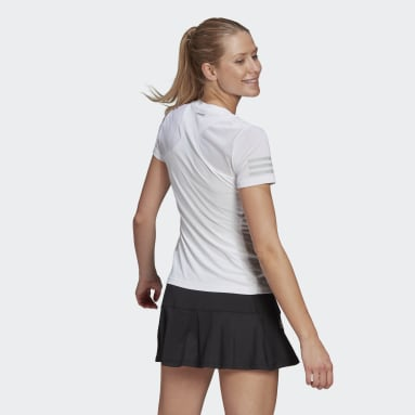 Women Tennis White Club Tennis T-Shirt