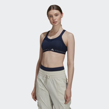 Dames adidas by Stella McCartney Blauw TRUEPURPOSE Post-Mastectomy Sportbeha