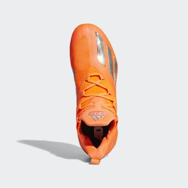 Men's Football Orange Adizero 11.0 Turbo Fuel Football Cleats