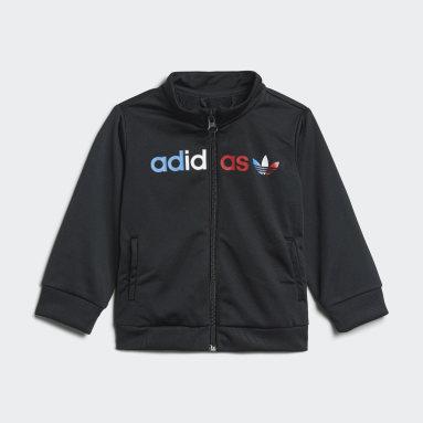 Kids Originals Black Adicolor Primeblue Tracksuit
