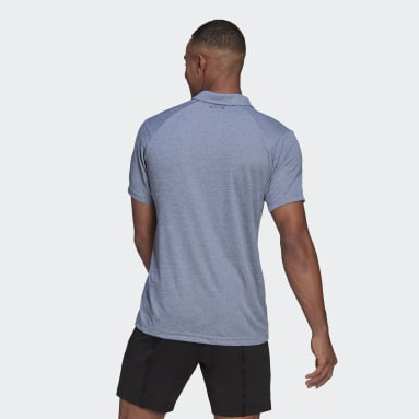 Men Tennis Blue HEAT.RDY Tennis Polo Shirt