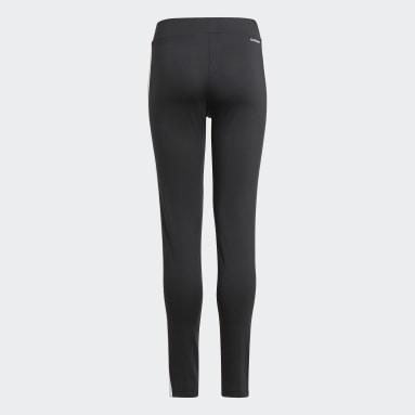 เด็กผู้หญิง ไลฟ์สไตล์ สีดำ กางเกงรัดรูป Designed 2 Move 3-Stripes