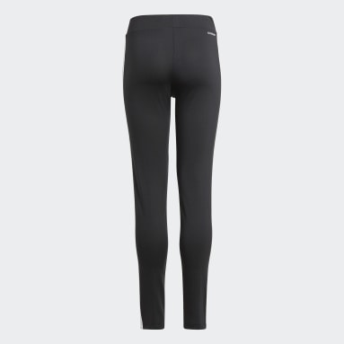 Girls Lifestyle Black Designed 2 Move 3-Stripes Tights