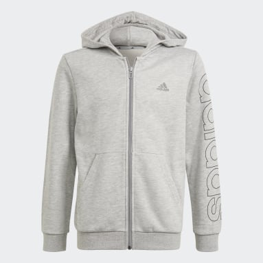 Youth 8-16 Years Sportswear Grey Essentials Hoodie