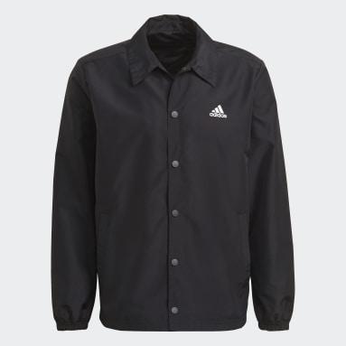 Men Sportswear Black Jacket