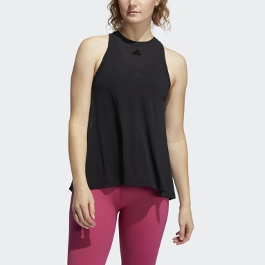 Women's Yoga Black Dance Tank Top
