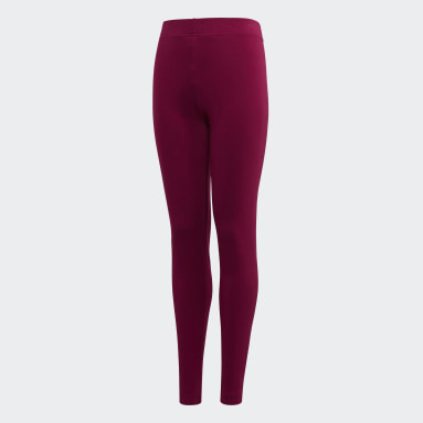 Mädchen Sportswear Essentials Linear Tight Weinrot