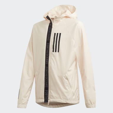 Jungen Fitness & Training Parley Windbreaker Beige